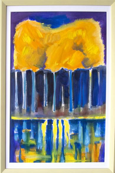 tres mujeres en la orilla del lago|PinturadeMaciej Cieśla| Compra arte en Flecha.es