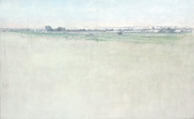 Sevilla desde el Instituto de la Grasa|PinturadeJosé Luis Romero| Compra arte en Flecha.es