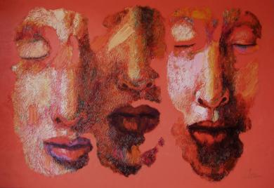 Pareja y solitario, ( Serie Diáspora)|PinturadeJuan Chamizo| Compra arte en Flecha.es