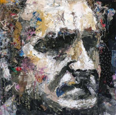 RETRATO DE EDUARDO CHILLIDA|CollagedeBarbeito| Compra arte en Flecha.es