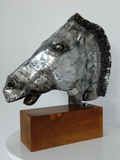 CABEZA DE CABALLO|EsculturadePablo Rebollo Pérez| Compra arte en Flecha.es