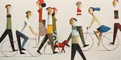WALK THE DOG|Obra gráficadeDidier Lourenço| Compra arte en Flecha.es