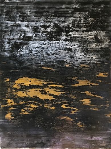 Carbón y oro|PinturadeEnric Correa| Compra arte en Flecha.es