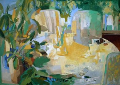 Mesa con sillas|PinturadeCarolina Veramendi B| Compra arte en Flecha.es