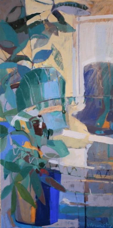 Sillas azules|PinturadeCarolina Veramendi B| Compra arte en Flecha.es
