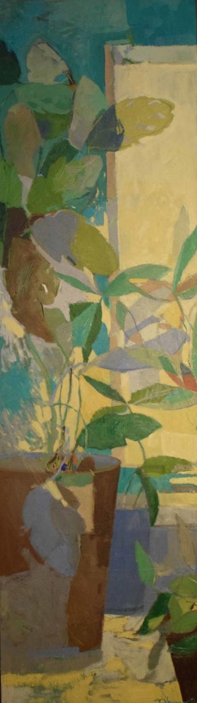 Tiestos en la entrada|PinturadeCarolina Veramendi B| Compra arte en Flecha.es