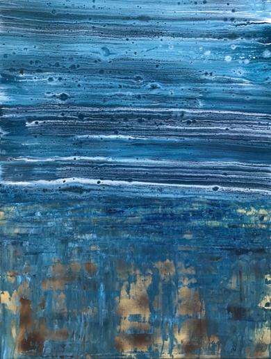 Abstracción azulada|PinturadeEnric Correa| Compra arte en Flecha.es