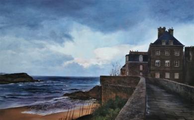 Saint Malo-paseo por la muralla|PinturadeCarmen Nieto| Compra arte en Flecha.es