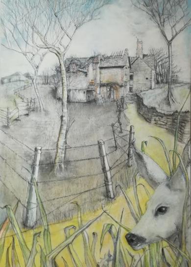 La corza blanca|DibujodeRosario Rodriguez| Compra arte en Flecha.es