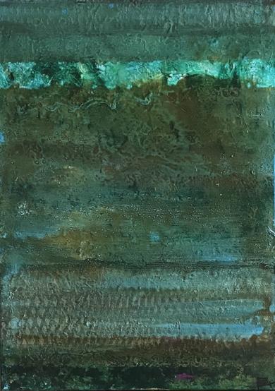 Composición en tonos verde|PinturadeEnric Correa| Compra arte en Flecha.es