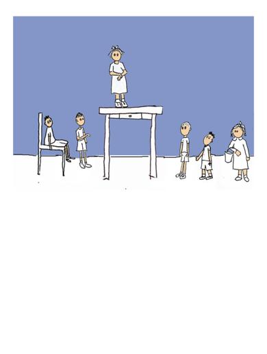 Yo soy la mamá porque soy más alta|Obra gráficadeAna Valenciano| Compra arte en Flecha.es