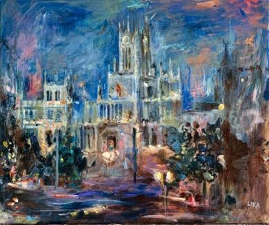 Palacio de  Cibeles|PinturadeLika Shkhvatsabaia| Compra arte en Flecha.es