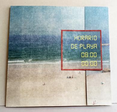 Horario de playa : 08:00  00:00 . Libro de artista|Obra gráficadeAna Valenciano| Compra arte en Flecha.es