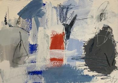 Paisaje Blue|PinturadeEduardo Vega de Seoane| Compra arte en Flecha.es