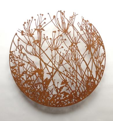 Flores redondo|Escultura de pareddeCharlotte Adde| Compra arte en Flecha.es