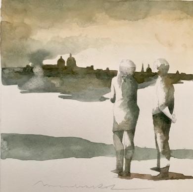 VIAJES III|DibujodeMenchu Uroz| Compra arte en Flecha.es