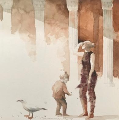 VIAJES V|DibujodeMenchu Uroz| Compra arte en Flecha.es