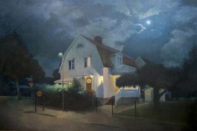 Noche de verano|PinturadeOrrite| Compra arte en Flecha.es