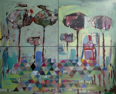EL DIÁLOGO DE LOS ÁRBOLES|PinturadeJesús Cuenca| Compra arte en Flecha.es