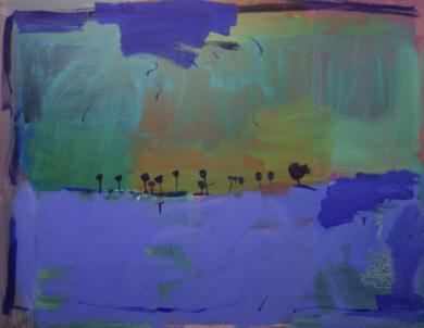 OASIS EN EL HORIZONTE|PinturadeJesús Cuenca| Compra arte en Flecha.es