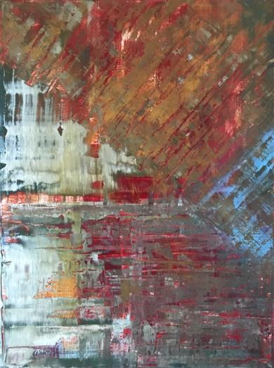 Composición fauvista abstracta|PinturadeEnric Correa| Compra arte en Flecha.es