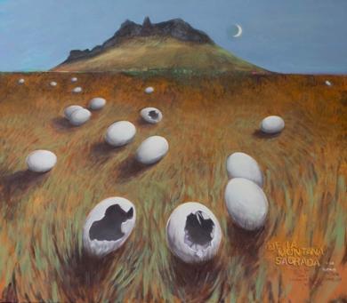 LA MONTAÑA SAGRADA|PinturadeJuan Mateo Cabrera| Compra arte en Flecha.es