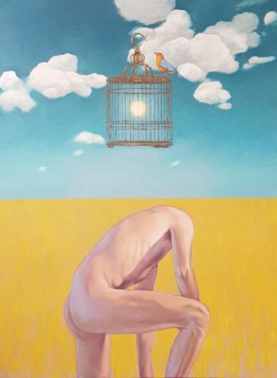 De la extraordinaria y magnifica ausencia de uno mismo|PinturadeJuan Mateo Cabrera| Compra arte en Flecha.es