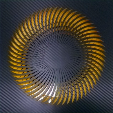 NAUTILUS (Black/Yellow)|DigitaldeGeometricarte| Compra arte en Flecha.es