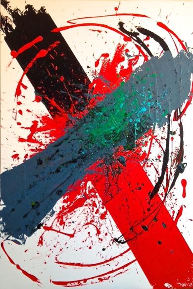 ROJO CRUZADO|Imagen en movimientodeALFREDO MOLERO DOVAL| Compra arte en Flecha.es