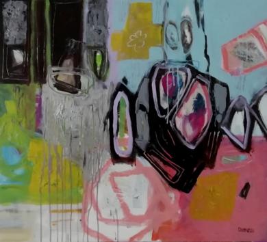 O Extraterrestre PinturadeFrancisco Santos  Compra arte en Flecha.es