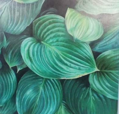 Hojas de jungla|PinturadeImma Peña| Compra arte en Flecha.es