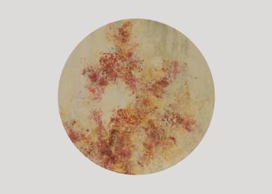 OCTUBRE:  JARDÍN EN REDONDEL|PinturadeBÁRBARA MELÉNDEZ MARTIN DE PERALTA| Compra arte en Flecha.es