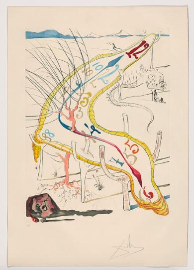 La conquete du cosmos. Les montres gélatines de l´espace-temps|Obra gráficadeSalvador Dalí| Compra arte en Flecha.es