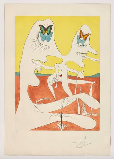 La conquete du cosmos. Papillons de l'anti-matiére|Obra gráficadeSalvador Dalí| Compra arte en Flecha.es