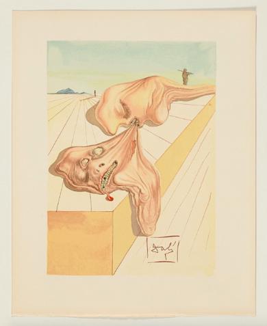 La Divina Comedia. Infierno canto 30|Obra gráficadeSalvador Dalí| Compra arte en Flecha.es