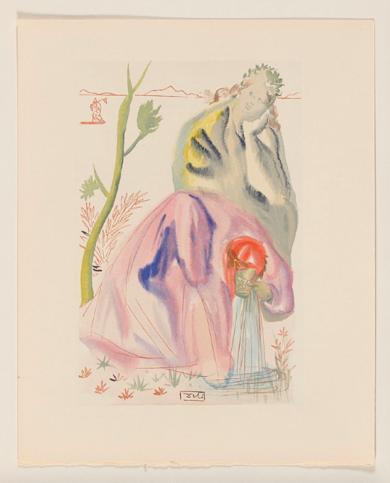 La Divina Comedia. Purgatorio canto 22|Obra gráficadeSalvador Dalí| Compra arte en Flecha.es