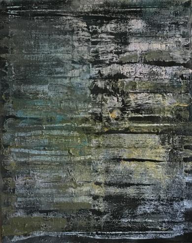 Composición matérica oscura|PinturadeEnric Correa| Compra arte en Flecha.es