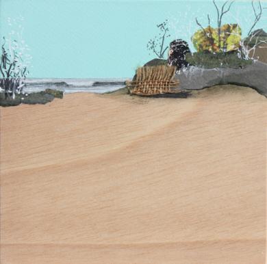 Verdes de playa|CollagedeEduardo Query| Compra arte en Flecha.es