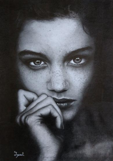 Belleza|DibujodeAlberto Izcara| Compra arte en Flecha.es