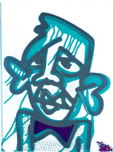 Marquise Turquoise & Silver|PinturadeJakob Fisk| Compra arte en Flecha.es