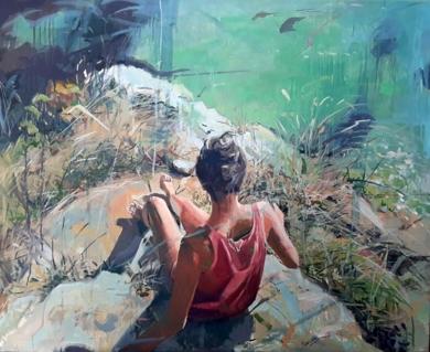 En el Acantilado|PinturadeAmaya Fernández Fariza| Compra arte en Flecha.es