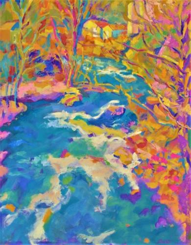Riachuelo|PinturadeJosé Bautista| Compra arte en Flecha.es