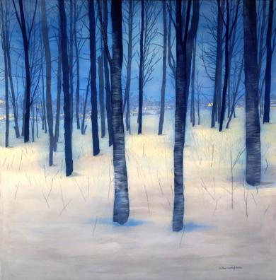 Bosque de invierno|PinturadeCharlotte Adde| Compra arte en Flecha.es