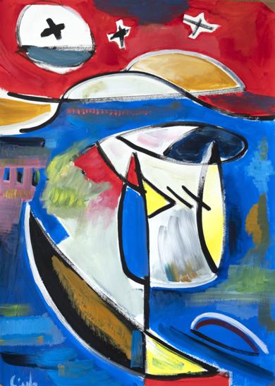 Abstracción, forma y color 12 2019|PinturadeMaciej Cieśla| Compra arte en Flecha.es