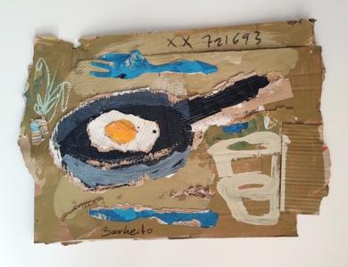 Huevo  Frito|CollagedeBarbeito| Compra arte en Flecha.es