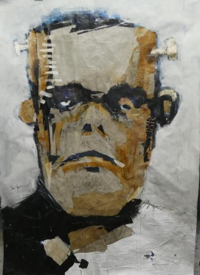 frankestein|Collagedesaiz manrique| Compra arte en Flecha.es