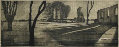 Ruinas|DibujodeEnrique González| Compra arte en Flecha.es