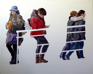 Cuatro mujeres|PinturadeJESÚS MANUEL MORENO| Compra arte en Flecha.es