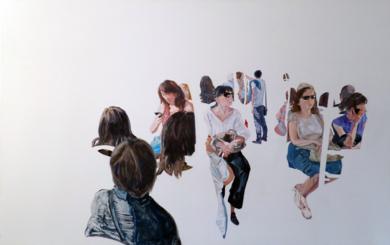 En el bus|PinturadeJESÚS MANUEL MORENO| Compra arte en Flecha.es