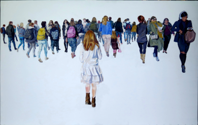 Niña|PinturadeJESÚS MANUEL MORENO| Compra arte en Flecha.es